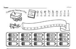 Free Third Grade Math Challenges PDF Worksheets Worksheet #36