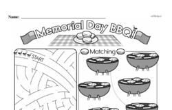 Free Third Grade Math Challenges PDF Worksheets Worksheet #112
