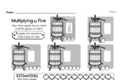 Free Third Grade Math Challenges PDF Worksheets Worksheet #42