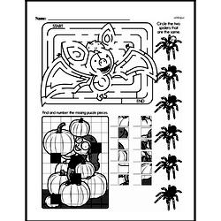 Third Grade Math Challenges Worksheets - Puzzles and Brain Teasers Worksheet #132