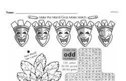 Free Third Grade Math Challenges PDF Worksheets Worksheet #191
