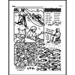 Free Third Grade Math Challenges PDF Worksheets Worksheet #158