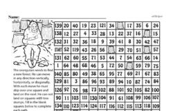 Free Third Grade Math Challenges PDF Worksheets Worksheet #98