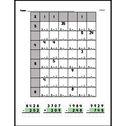 Multiplication chart puzzle worksheet