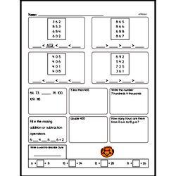 Free Third Grade Math Word Problems PDF Worksheets Worksheet #1