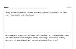 Free Third Grade Math Word Problems PDF Worksheets Worksheet #2