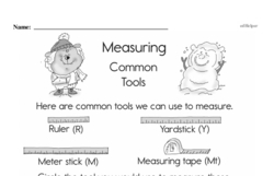 Free Third Grade Measurement PDF Worksheets Worksheet #4