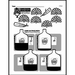 Measurement - Measurement and Volume Mixed Math PDF Workbook for Third Graders
