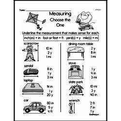 Third Grade Measurement Worksheets - Systems of Measurement Worksheet #1