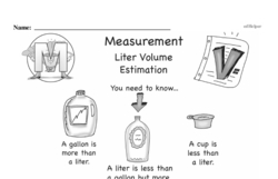 Free Measurement PDF Math Worksheets Worksheet #133