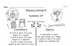Free Third Grade Measurement PDF Worksheets Worksheet #5
