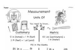 Free Third Grade Measurement PDF Worksheets Worksheet #8