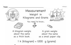 Free Measurement PDF Math Worksheets Worksheet #128