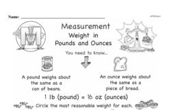 Free Measurement PDF Math Worksheets Worksheet #89