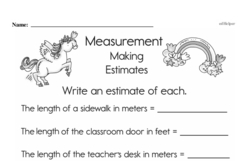 Third Grade Measurement Worksheets Worksheet #5