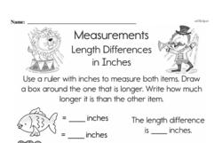 Third Grade Measurement Worksheets Worksheet #8