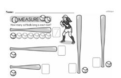 Free Measurement PDF Math Worksheets Worksheet #32