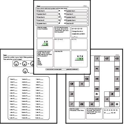 Mental Math Workbook (all teacher worksheets - large PDF)