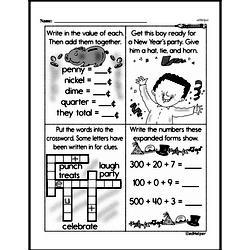 Third Grade Money Math Worksheets - Adding Groups of Coins Worksheet #9