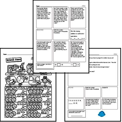 Money Math - Adding Groups of Coins Workbook (all teacher worksheets - large PDF)