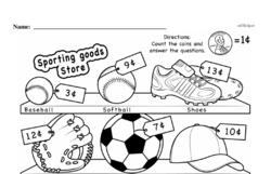Third Grade Money Math Worksheets - Adding Groups of Coins Worksheet #5