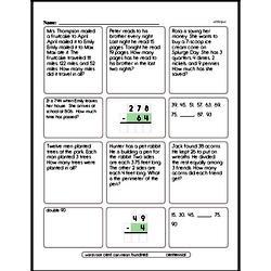 Third Grade Money Math Worksheets - Adding Groups of Coins Worksheet #1