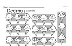 Free Third Grade Money Math PDF Worksheets Worksheet #8