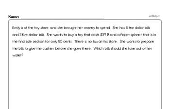 Money Math - Adding Money Workbook (all teacher worksheets - large PDF)