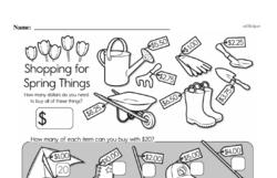 Third Grade Money Math Worksheets - Adding Money Worksheet #9