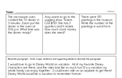Third Grade Money Math Worksheets - Adding Money Worksheet #1