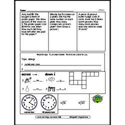 Free Third Grade Money Math PDF Worksheets Worksheet #1