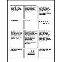 Free Third Grade Money Math PDF Worksheets Worksheet #2