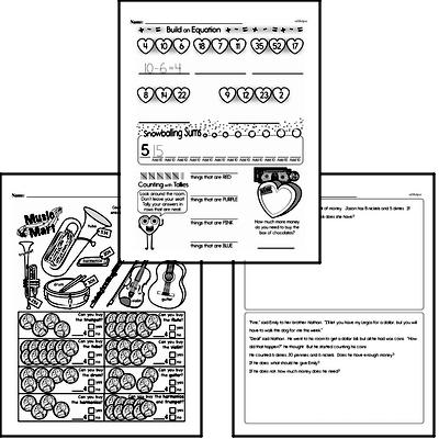 Money Math - Money Word Problems Mixed Math PDF Workbook for Third Graders