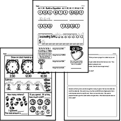 Money Math - Money Word Problems Workbook (all teacher worksheets - large PDF)