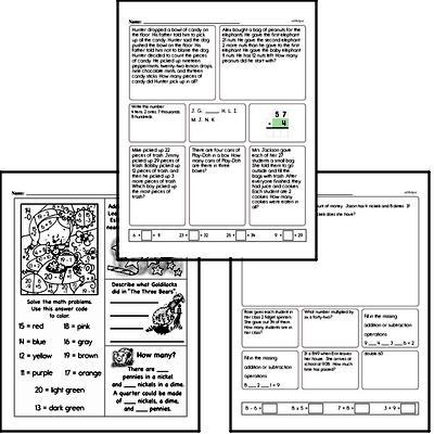 Money Math - Nickels Workbook (all teacher worksheets - large PDF)