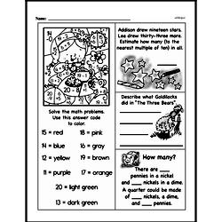 Third Grade Money Math Worksheets - Quarters Worksheet #4