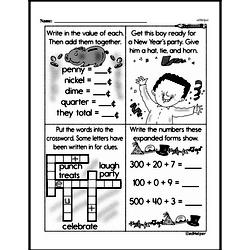 Third Grade Money Math Worksheets - Quarters Worksheet #5