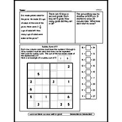 Third Grade Money Math Worksheets - Quarters Worksheet #1