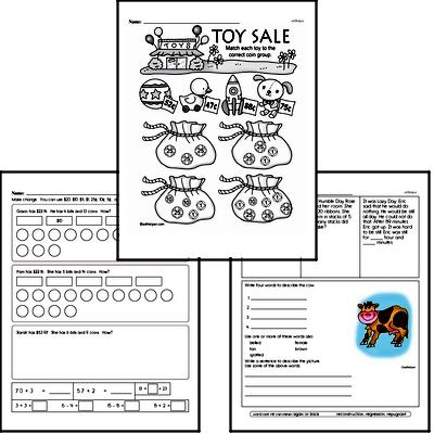 Money Math Workbook (all teacher worksheets - large PDF)