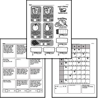 Multiplication - Multi-Digit Multiplication Workbook (all teacher worksheets - large PDF)