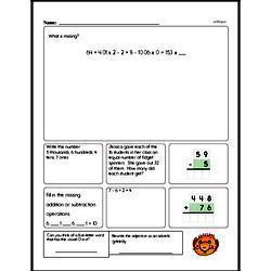 Free Third Grade Multiplication PDF Worksheets Worksheet #2