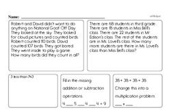 Free Third Grade Multiplication PDF Worksheets Worksheet #6