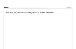 Multiplication - Multiplication within 25 and Rectangular Arrays Workbook (all teacher worksheets - large PDF)