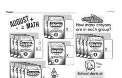 Third Grade Multiplication Worksheets - Multiplication within 25 and Rectangular Arrays Worksheet #1