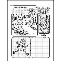 Third Grade Multiplication Worksheets - Multiplication within 25 and Rectangular Arrays Worksheet #2