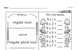 Free Third Grade Multiplication PDF Worksheets Worksheet #32