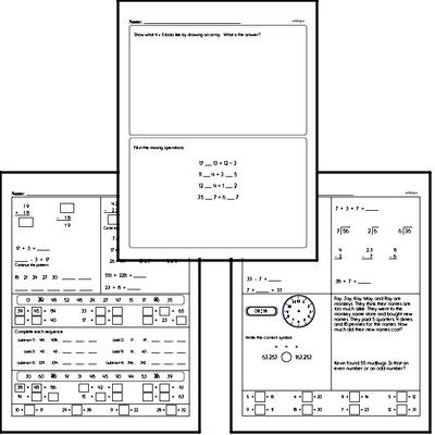 Multiplication - One-Digit Multiplication Workbook (all teacher worksheets - large PDF)