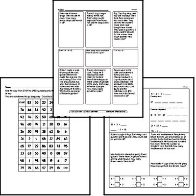 Multiplication Mixed Math PDF Workbook