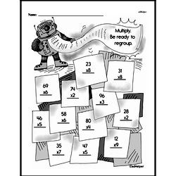 Third Grade Multiplication Worksheets Worksheet #4
