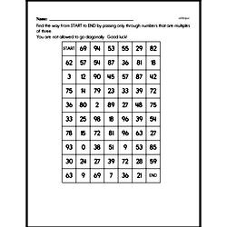 Multiplication Worksheets - Free Printable Math PDFs Worksheet #100